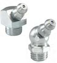 Hydraulic-type grease nipples, angled version 45°